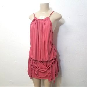 FREE PEOPLE Romper Small Pink Drape Cami